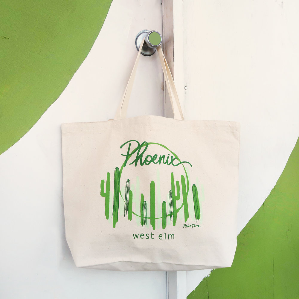 West Elm    Tote bag designed for the grand opening of the Phoenix location