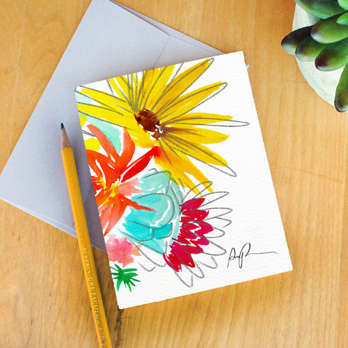 Farmers market bouquet greeting card paige poppe farmers market bouquet greeting card m4hsunfo