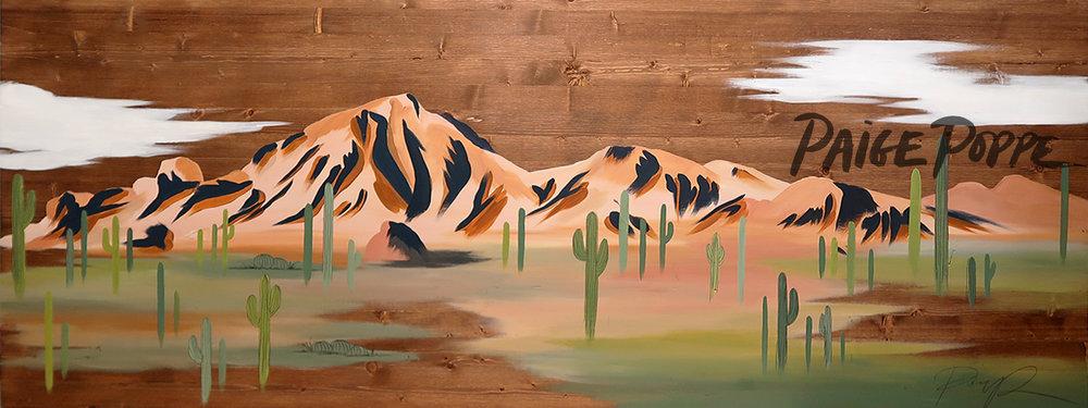 """Camelback Mountain"" acrylic on wood, December 2016"