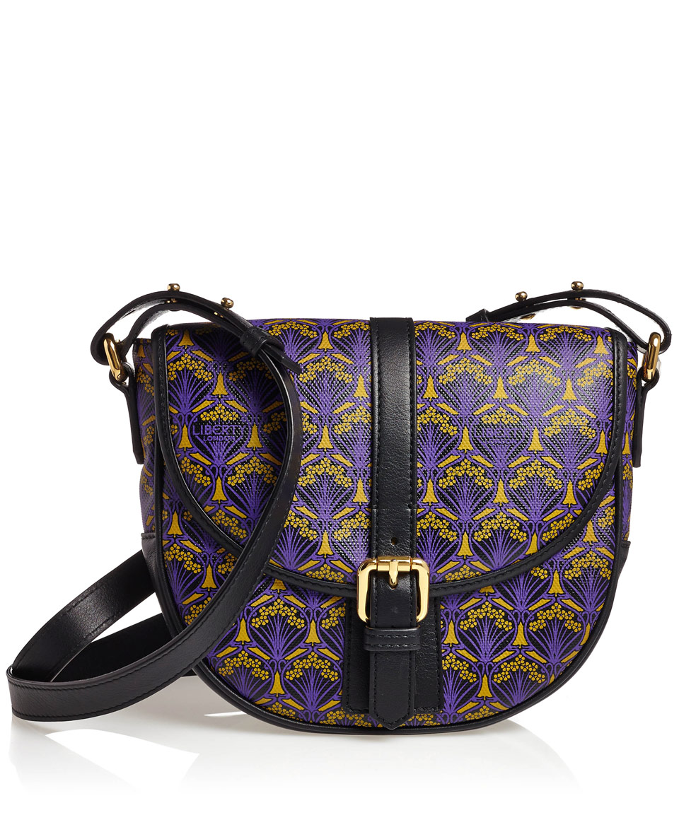 Purple Liberty London Carnaby Saddle Bag