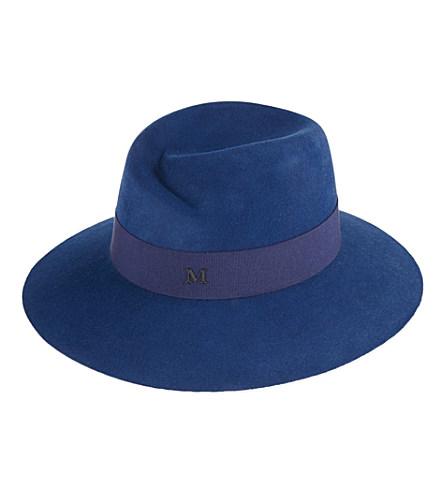 Maison Michel - Virginie Wide-Brimmed Felt Trilby Hat