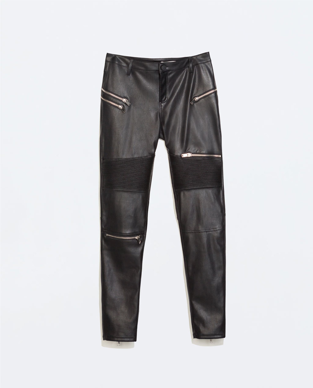 Faux Leather Zara Trousers With Zips