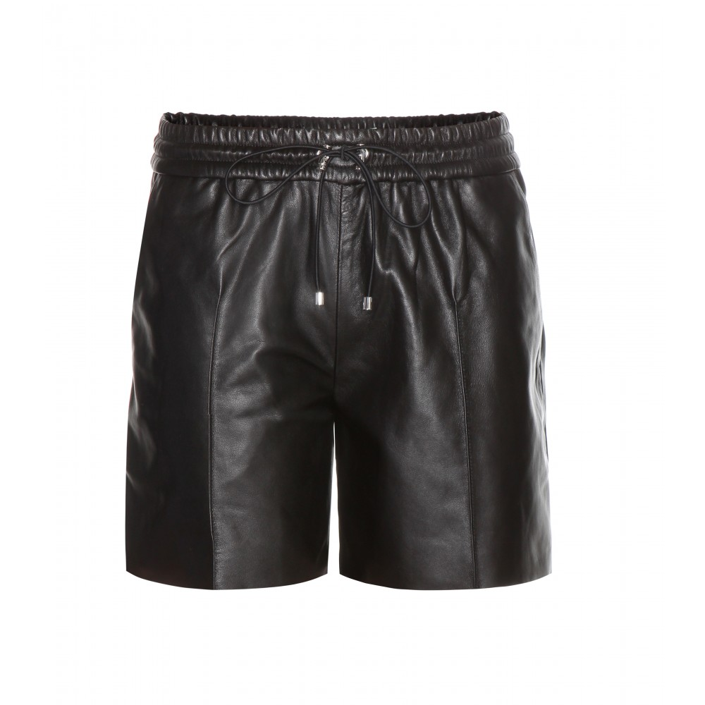VB Leather Shorts
