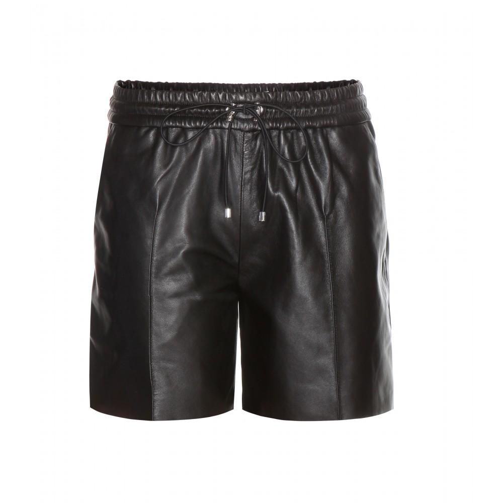 VB Leather Shorts