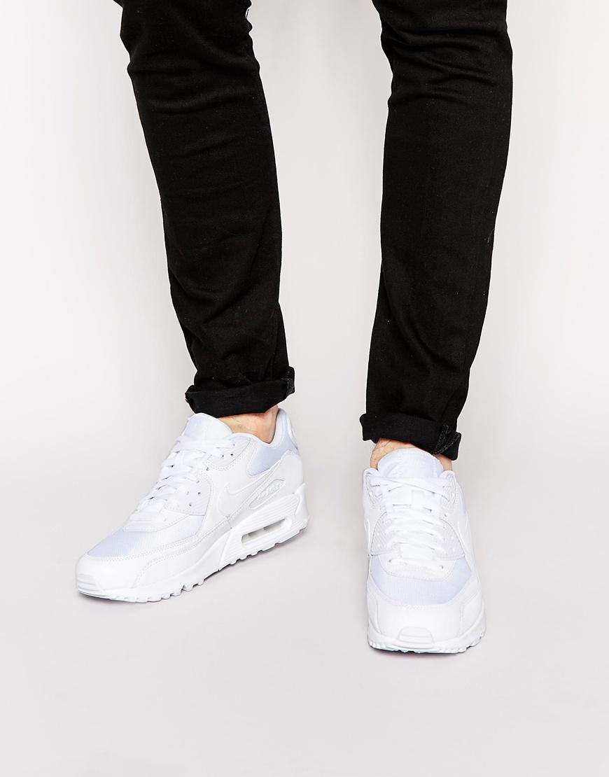 nike air max 90 blanche porté