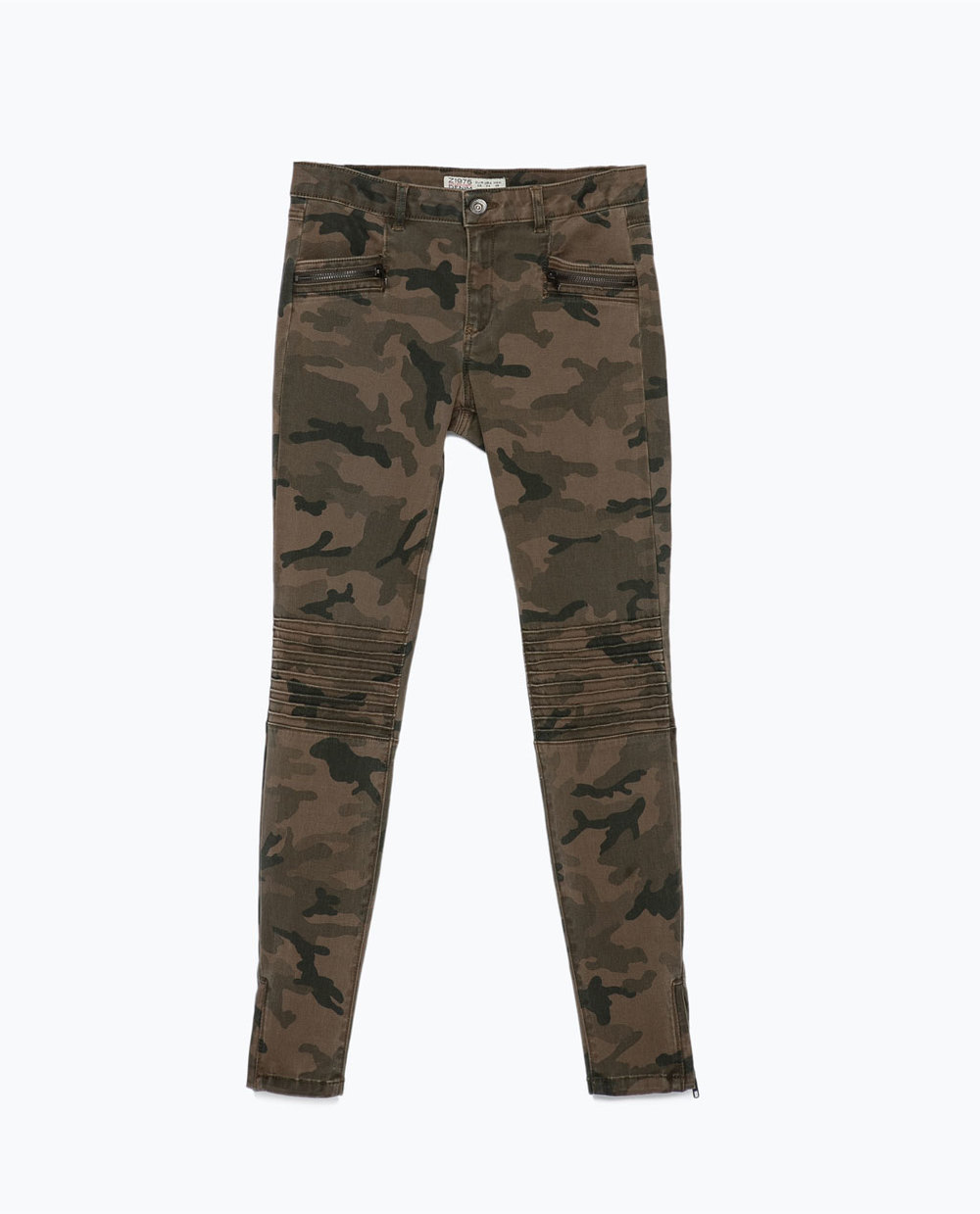 Camo Trousers with Zips