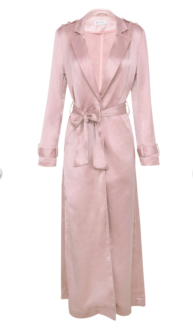 'Fabienne' Satin Duster Coat