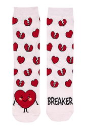 Topshop 'Heart Breaker' Ankle Socks
