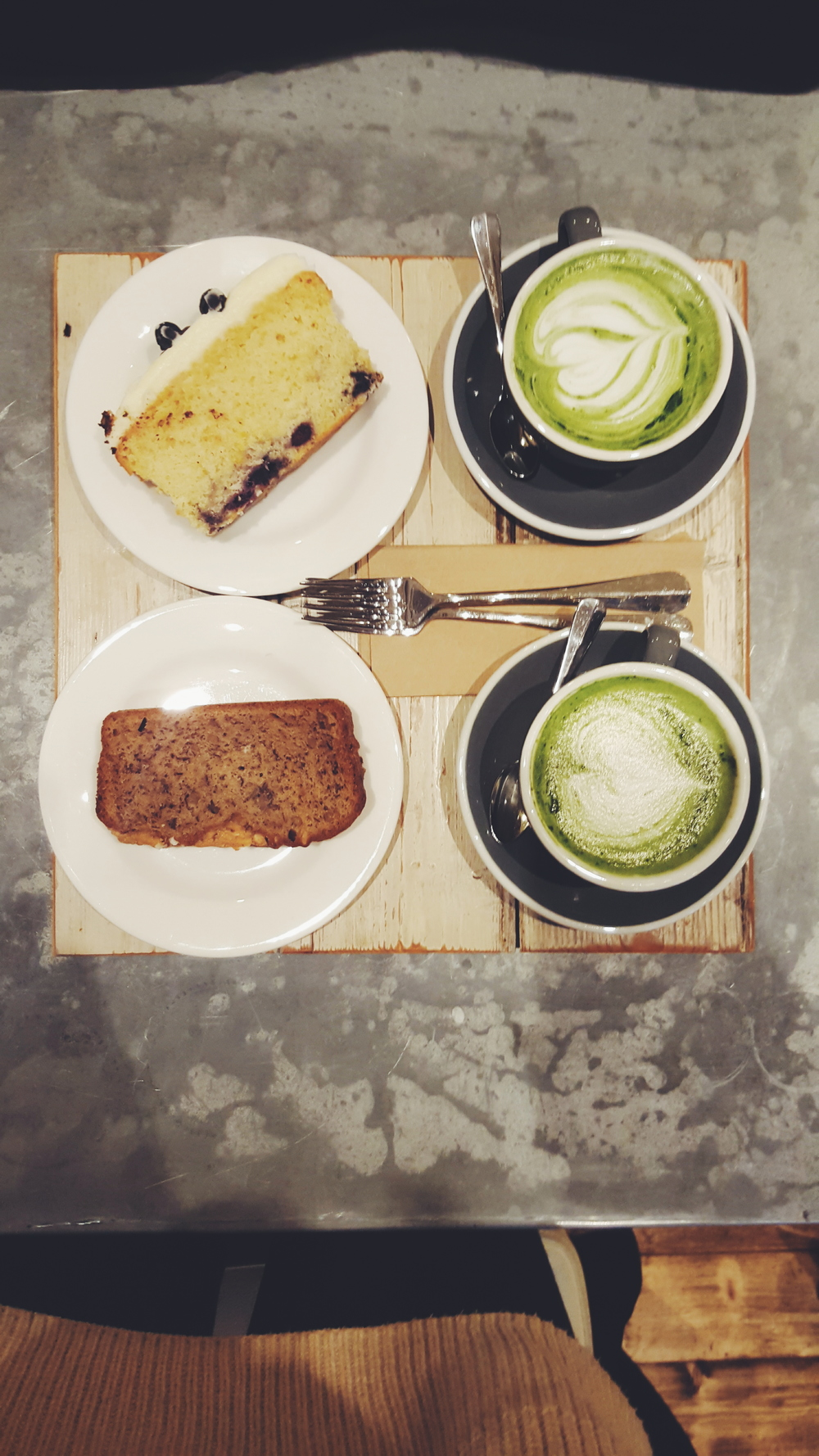 Matcha latte at Timberyard, Soho