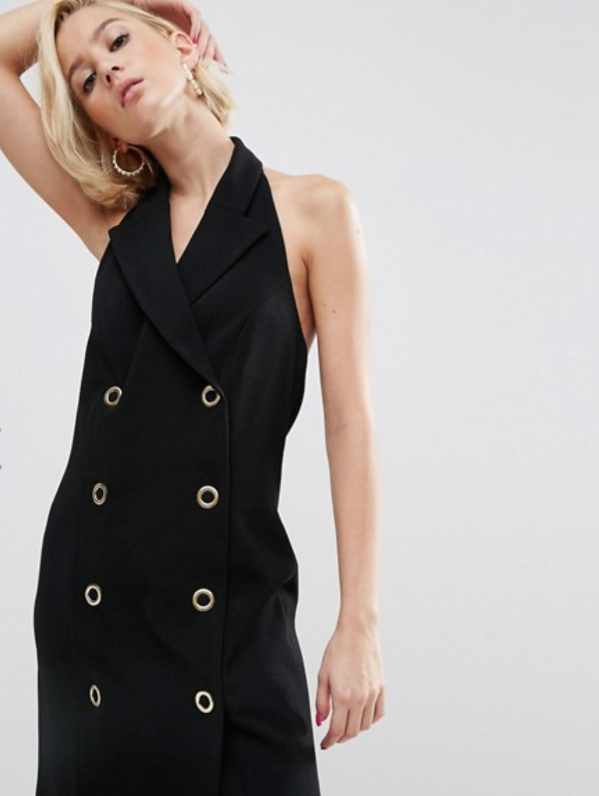 Wah London x Asos Halter Neck Blazer Dress