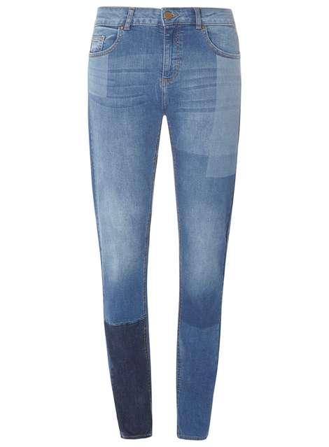 Dorothy Perkins Laser Patch Jeans