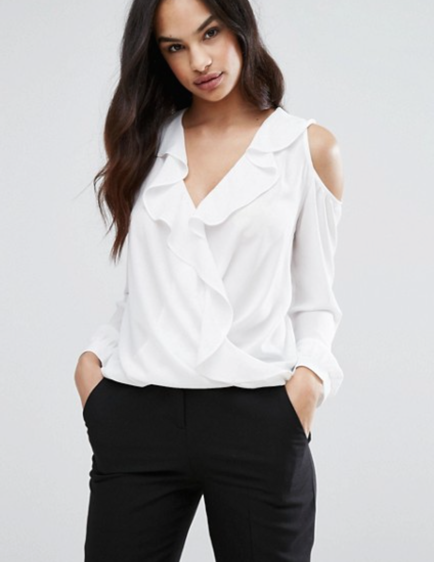 Lips Cold Shoulder Top