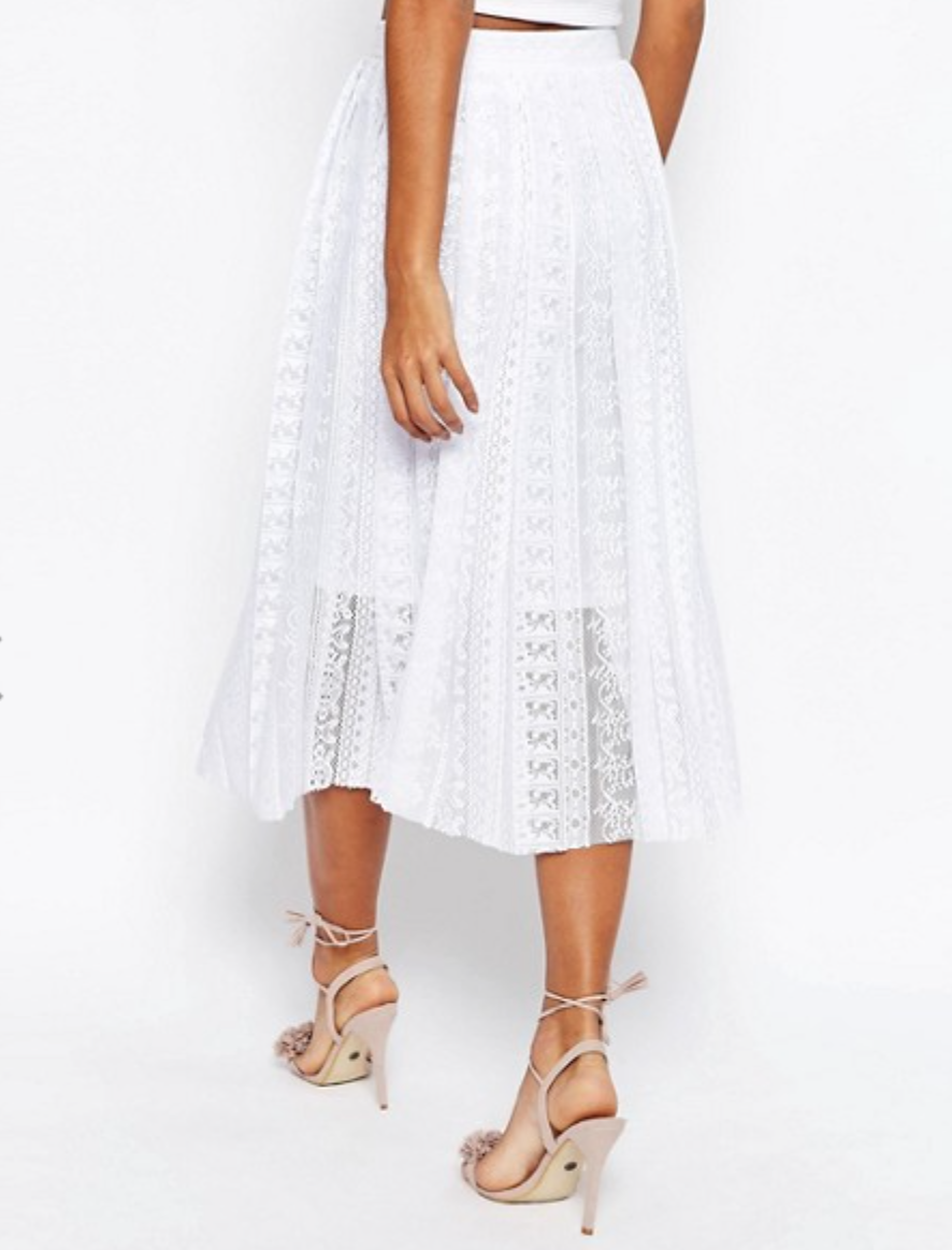 ASOS Pleated Lace Skirt