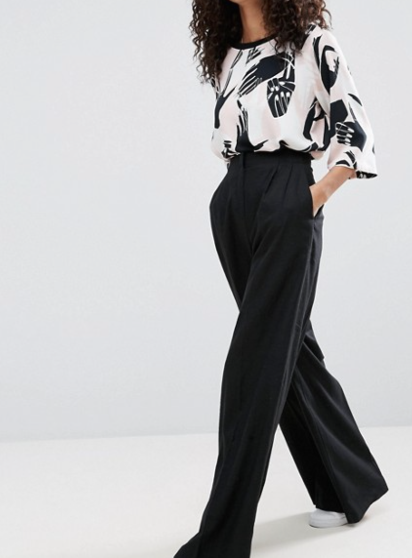 ASOS Wide Leg Linen Trousers