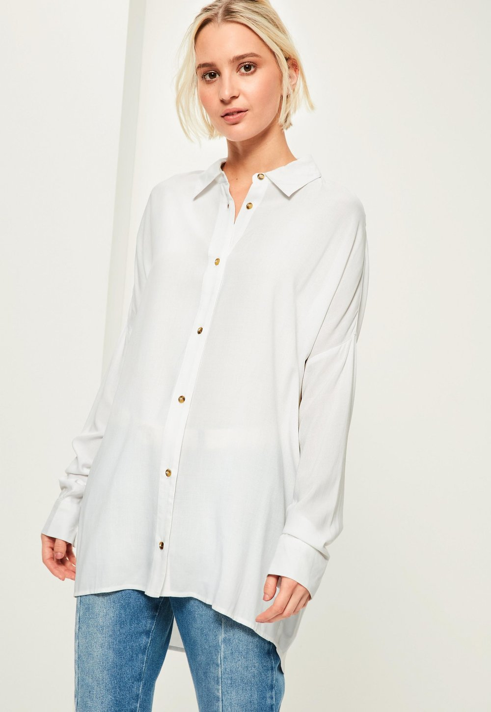 Missguided White Oversized Shirt