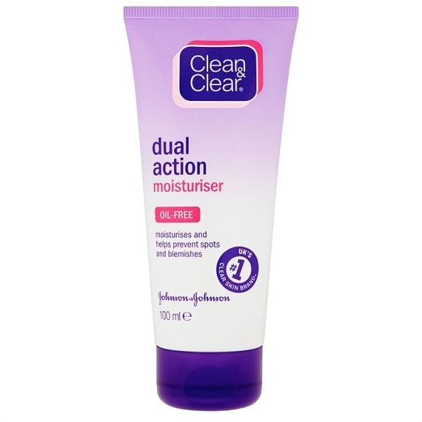 Clean & Clear Dual Action Moisturiser - Price: £3.25It's not every day, expensive products!Sometimes the cheap and cheerful stuff does actually work.This is the perfect moisturiser to use under makeup as it's light and refreshing.Rating: 4.5/5