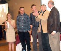 Eli Scardoni and Greg Patterson (far right)