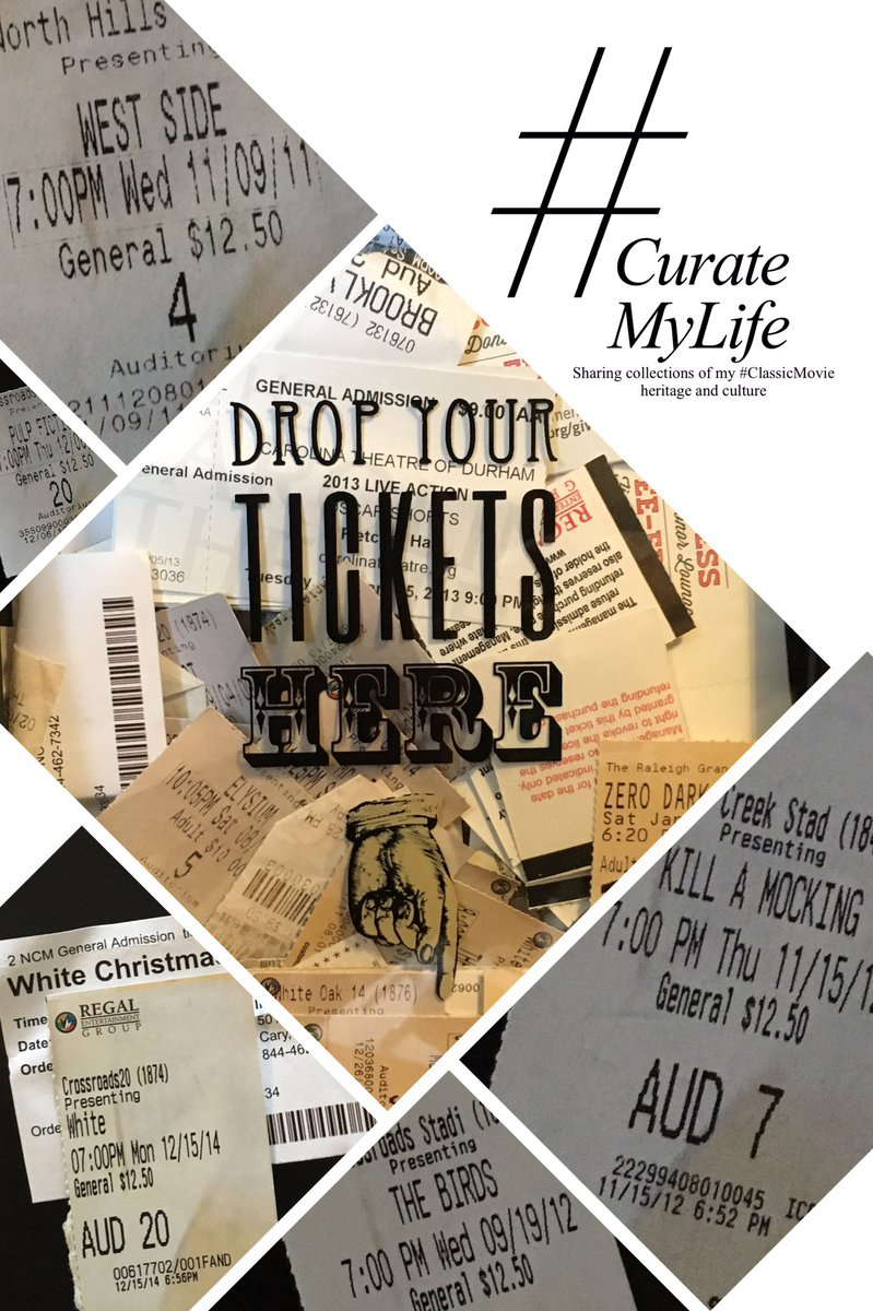 #CurateMyLife – #ClassicMovie Ticket Stub