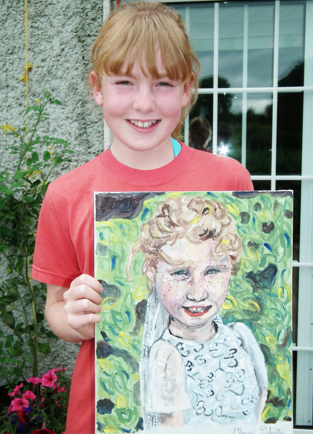 "Portrait painting, "" Ella"" by Mary Doherty"