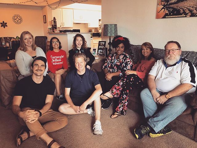"""#tbt #BehindTheAirwaves Check out this photo of the playwright, director, and cast of """"Hell and High Water"""" from our recording day. Have you listened to our latest radio play yet? Head to iTunes now! #dtcradio #iTunes #Podcast #TheFinalSeason"""
