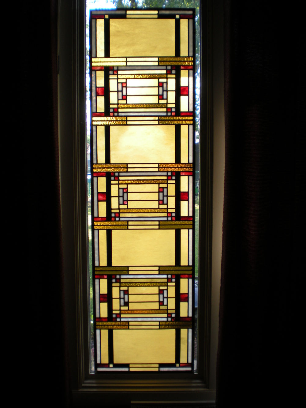 Art glass gust a harchar design llc for 18 x 80 pantry door