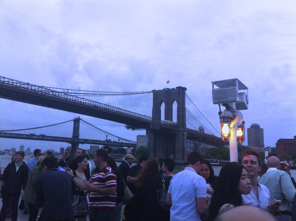 An event in Brooklyn, just by the East River