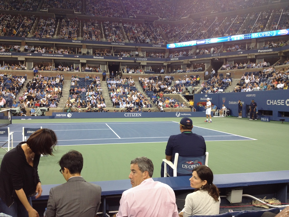 Enjoying the US Open with fantastic seats!