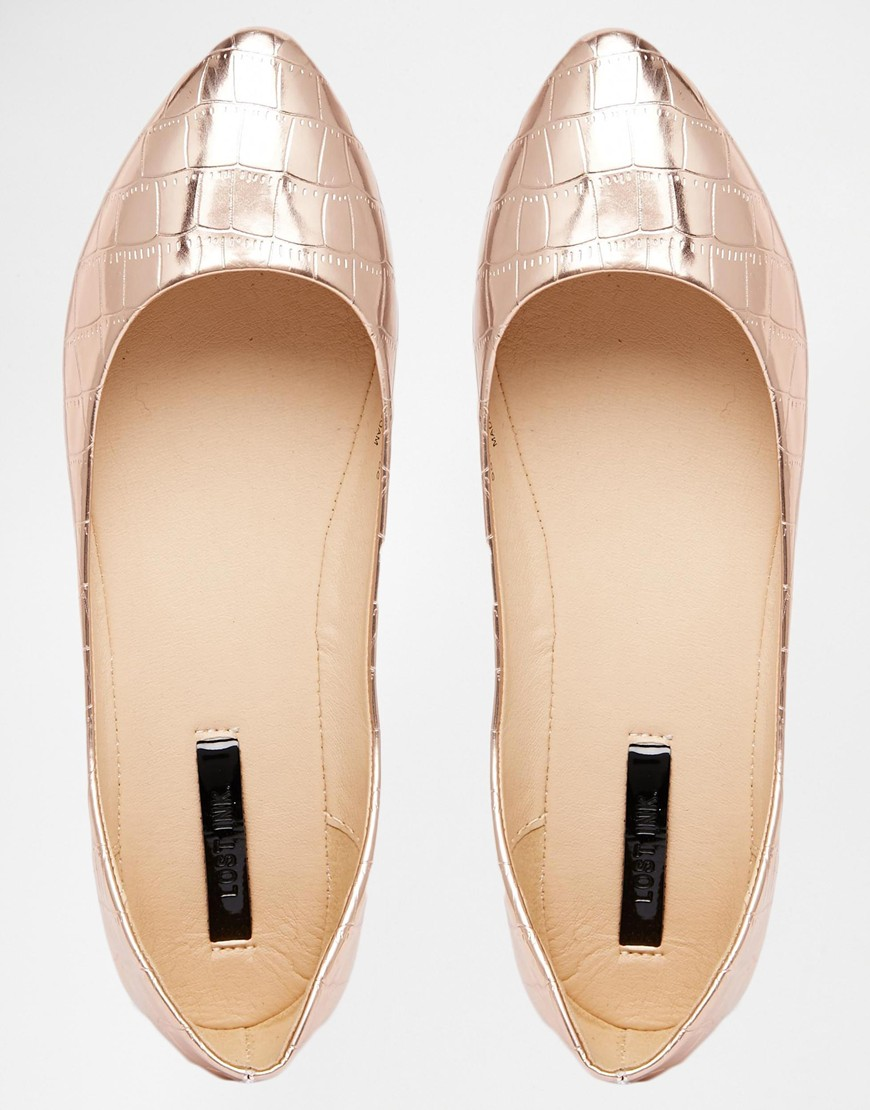 Lost Ink - Bea Rose Gold Pumps £18