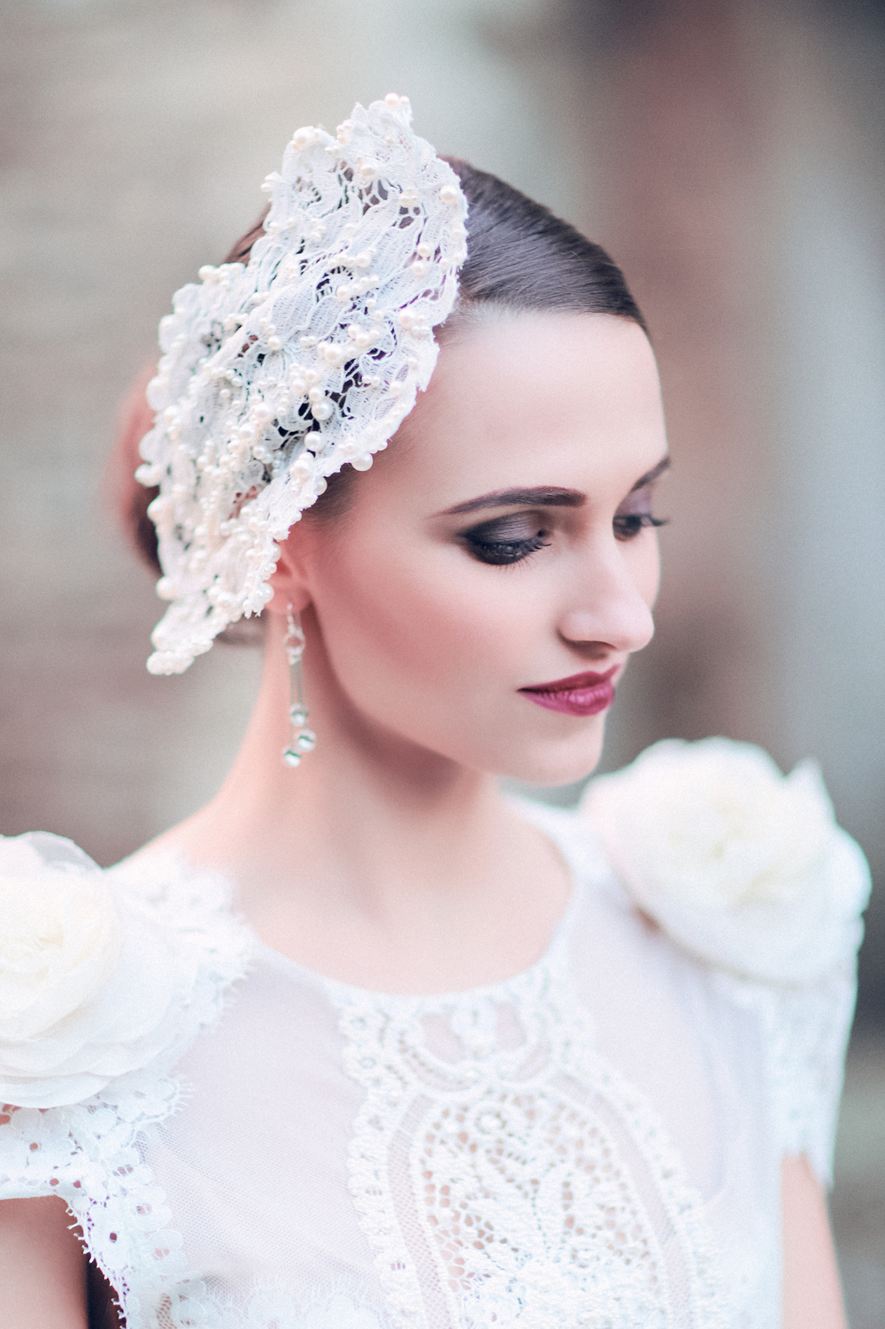 A different take on a fascinator, Vivien Sheriff create beautiful unique bridal pieces