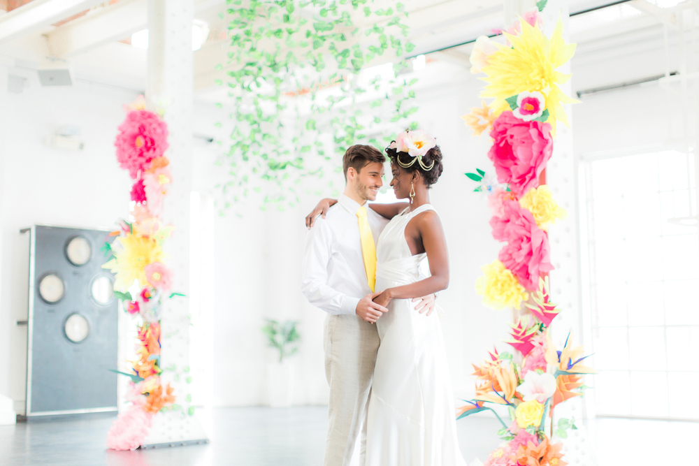 tropical london wedding - wedding stylist - charlotte munro- sanshine photography