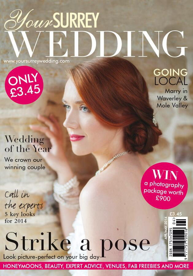 Featured on the cover of Your Surrey Wedding Magazine