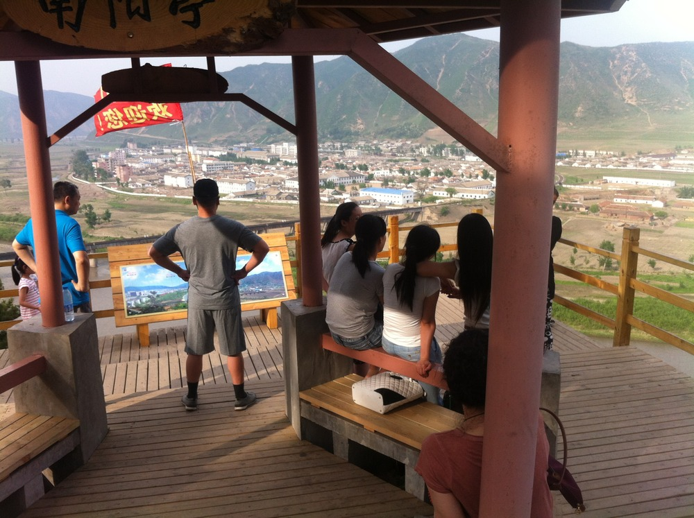 This chap recommends a wide stance for North Korea watching - Namyang sits quietly across the river.
