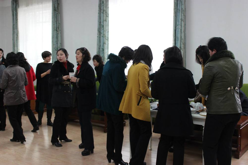 Participants network at a program