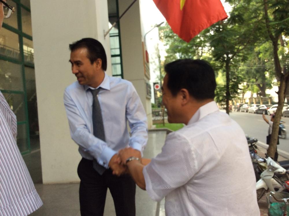 Participants visit a masterplanning institute in Hanoi
