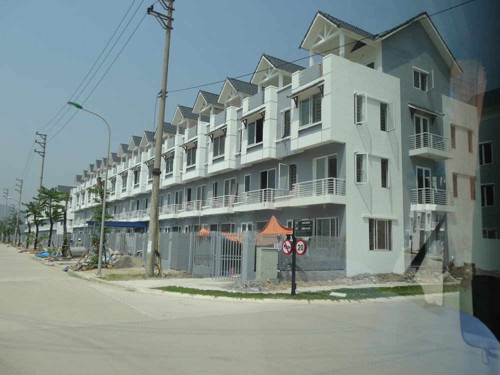 Checking out a development near Halong Bay in 2014.