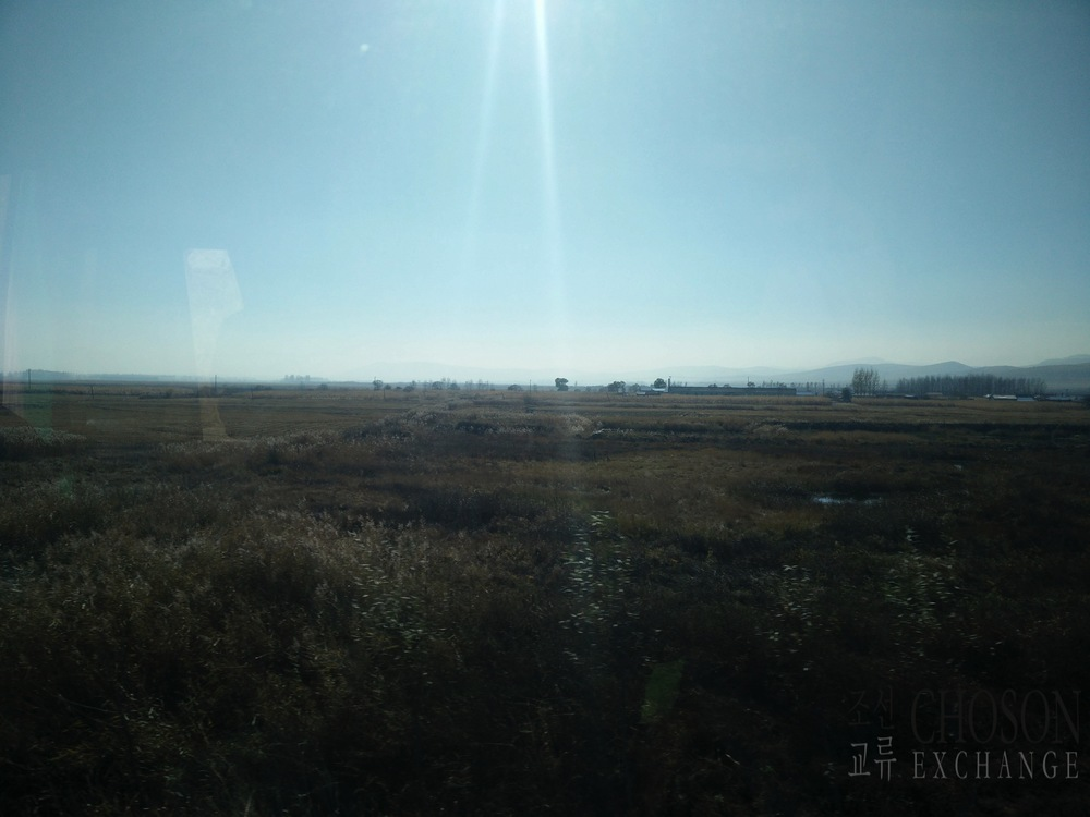 Look right, the DPRK (just beyond the trees)