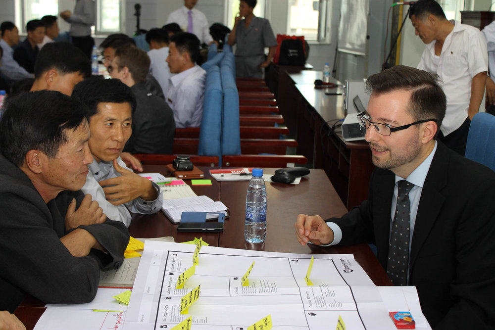 CE Volunteers visit the DPRK and lead breakout discussions on innovation and startups.