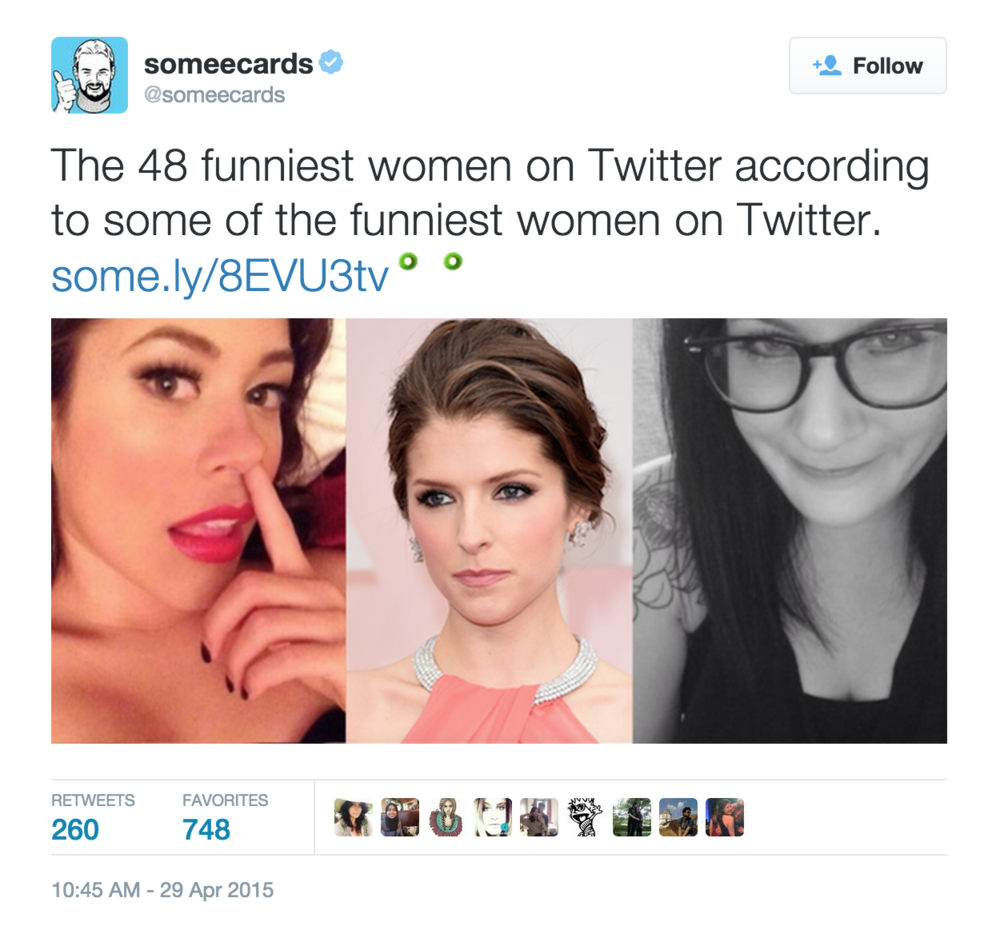 I was named one of the 48 funniest women on Twitter (I'm in great company)