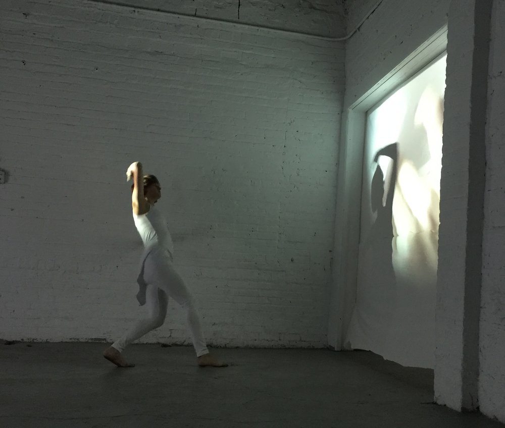 A Precipice, Abandon, A Dotted Line   Performance at Flux Factory, October 2016 (Interior View)