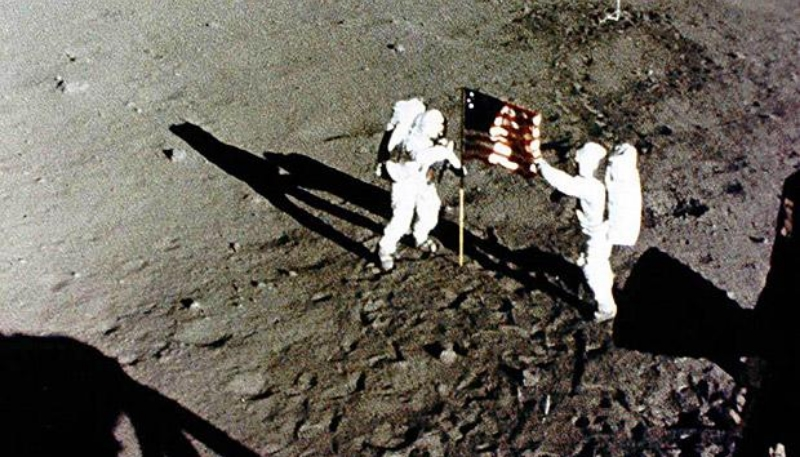 Being the first human ever to land on the moon!