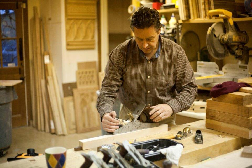 Gabriel McKeagney working in his studio, San Juan Capistrano, California.
