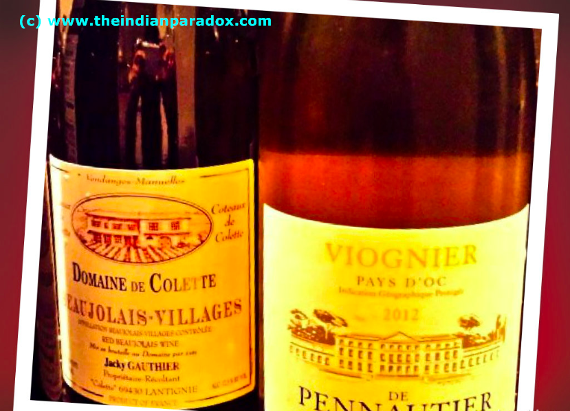 WIne #1: Viognier        Wine #2: Beaujolais