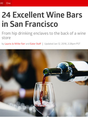 SF Eater Excellent Wine Bars  January 2018