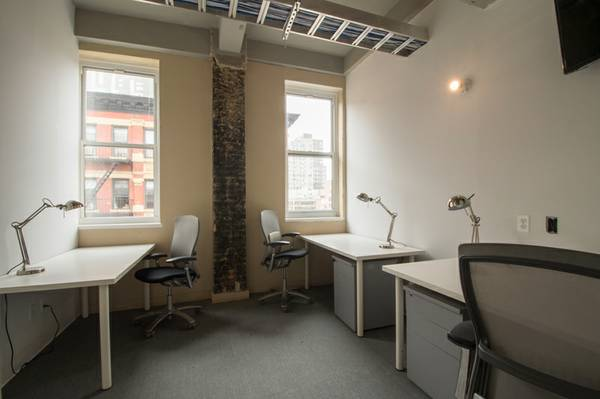 An office suite at The Yard's Delancey Street location.