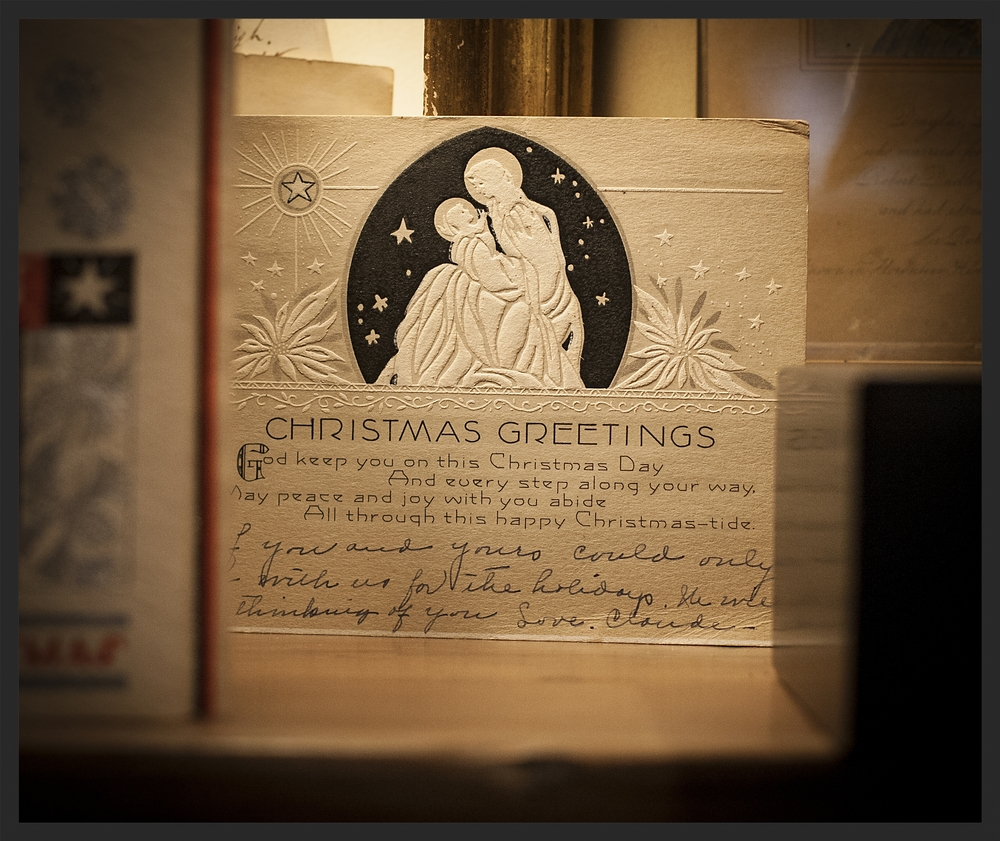 Christmas card from the 1930's.  Linda Kay McCloy - alittleenglishinteriors.com