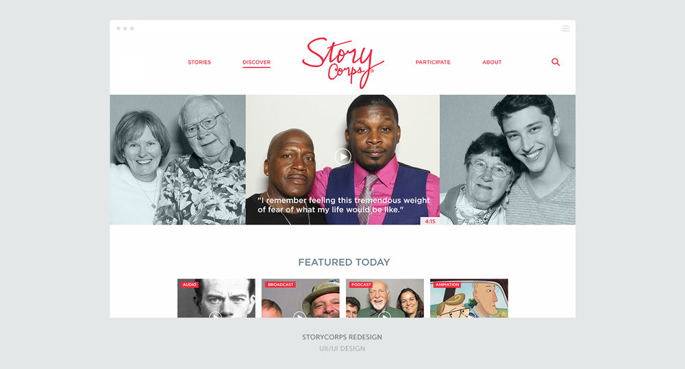 StoryCorps Redesign