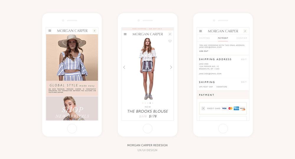Morgan Carper E-Commerce Site Redesign