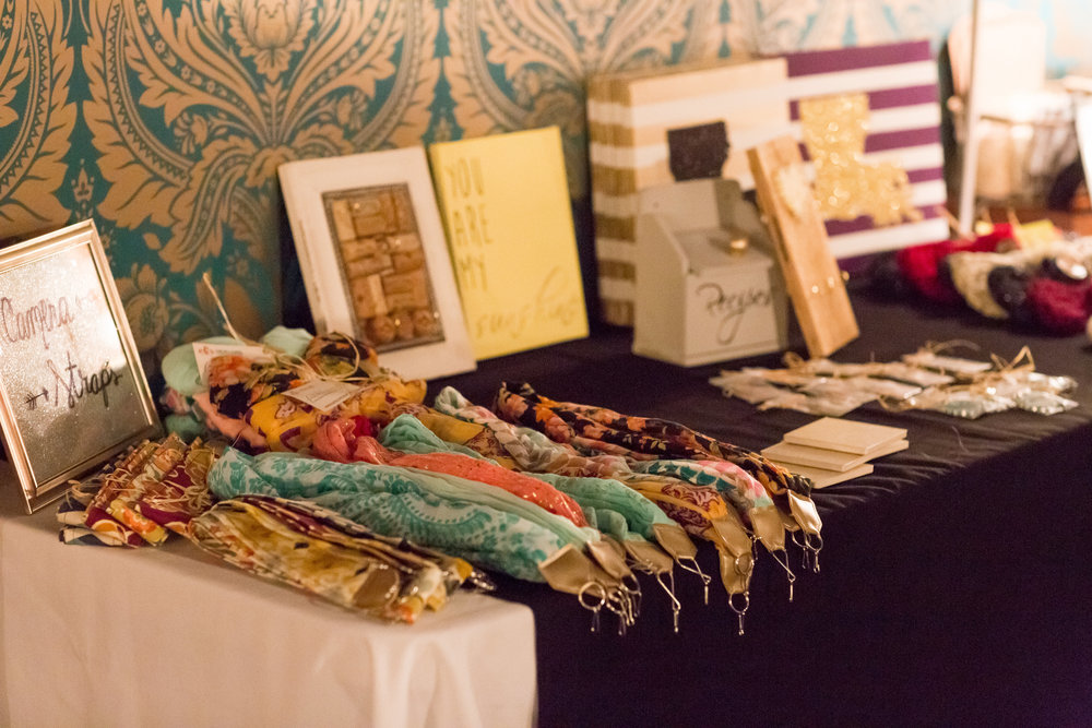 faithlovecraft's table. Her camera straps are awwwwsome!  PHOTO by TAYLOR GONSOULIN PHOTOGRAPHY.