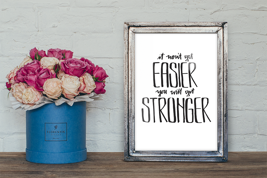 April Free Print - Hand Lettered Quote by Little Eli