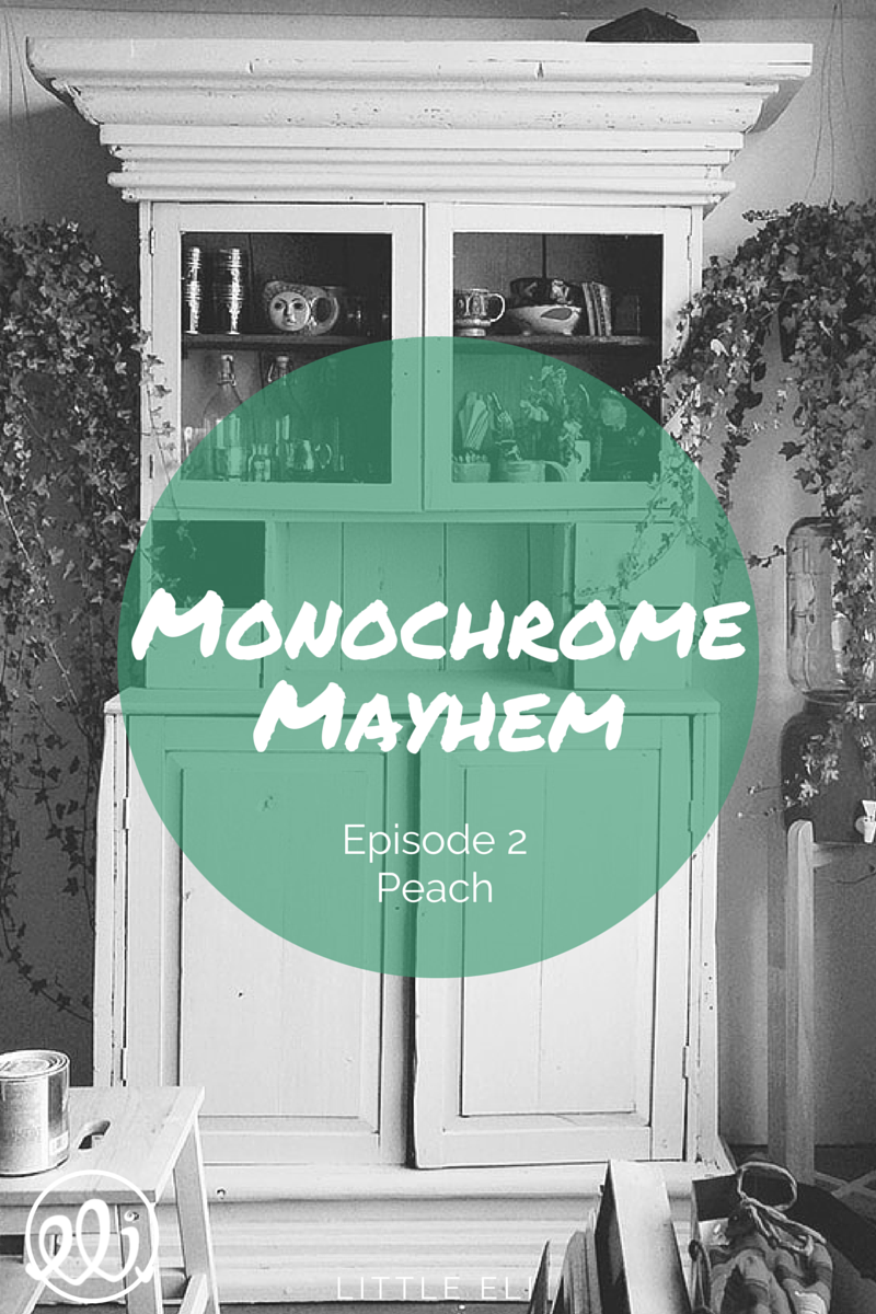 Monochrome Mayhem: Modern Peach - Little Eli